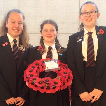 Students place Menin memorial for local solider