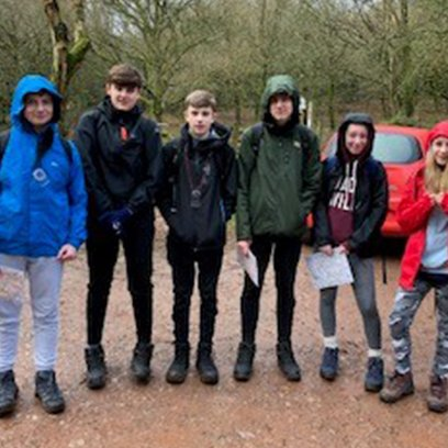 Wrapped up warm for the DofE Practice Walk